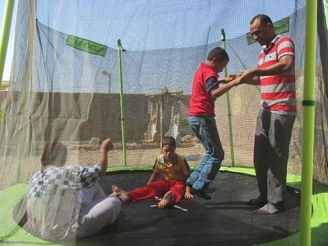 Nieuwe trampoline